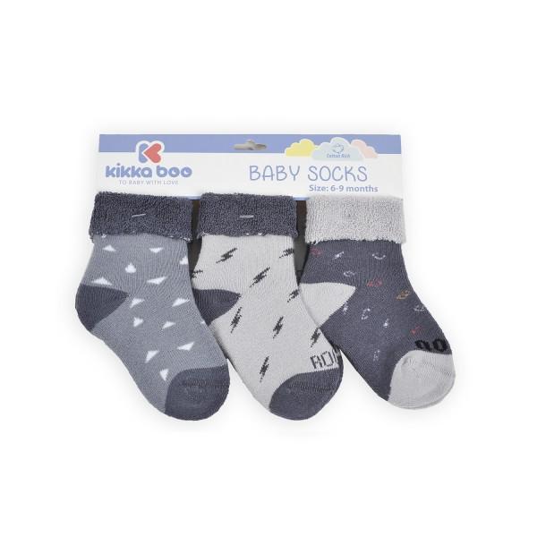 Бебешки памучни термо чорапи 9-12 месеца момчета