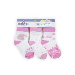Бебешки памучни чорапи 12-24 месеца момичета