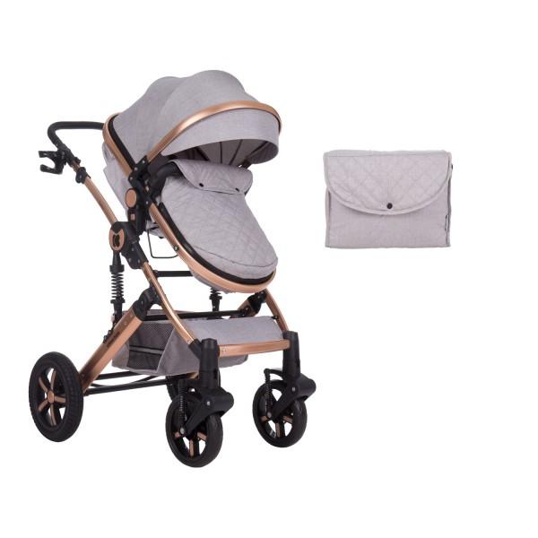 Комбинирана количка 2 в 1 с трансф.седалка Darling Light Grey 2020