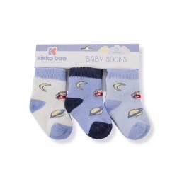 Бебешки памучни термо чорапи SKY BLUE 1-2 години