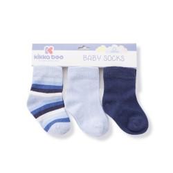 Бебешки памучни чорапи STRIPES DARK BLUE 6-12 месеца