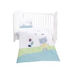 Kikkaboo Бебешки спален комплект 5 части Cat Lovely Day