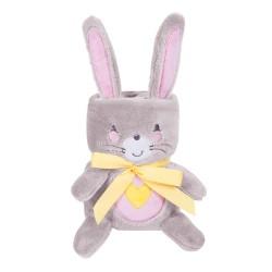 Бебешко одеяло с 3D бродерия Pink Bunny