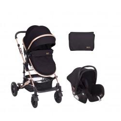 Комбинирана количка 3 в 1 с трансф.седалка Amaia All Black