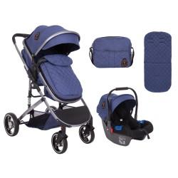 Комбинирана количка 3 в 1 Tiara Dark Blue