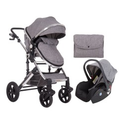 Комбинирана количка 3 в 1 с трансф.седалка Darling Dark Grey 2020