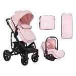 Kikkaboo Комбинирана количка 3 в 1 Beloved Light Pink