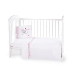 Бебешки спален комплект 3 части EU Style 70/140 Pink Bunny