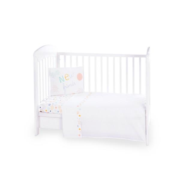 Бебешки спален комплект 3 части EU Style 70/140 New Friends