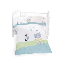 Бебешки спален комплект 6 части 60/120 Cat Lovely Day