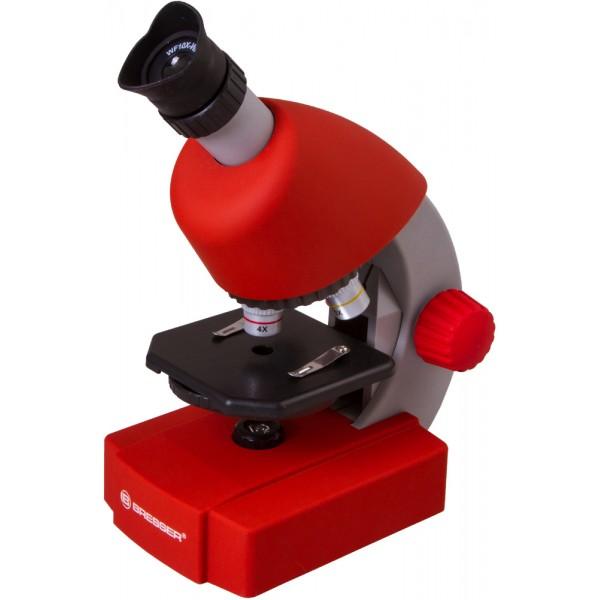 Bresser Junior 40–640x Microscope, red