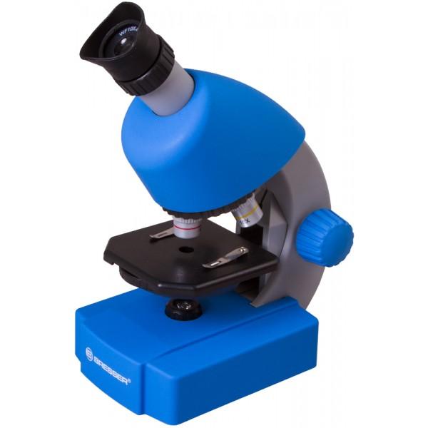 Bresser Junior 40–640x Microscope, blue