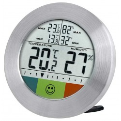 Bresser Temeo Hygro Circuitu Weather Station, silver