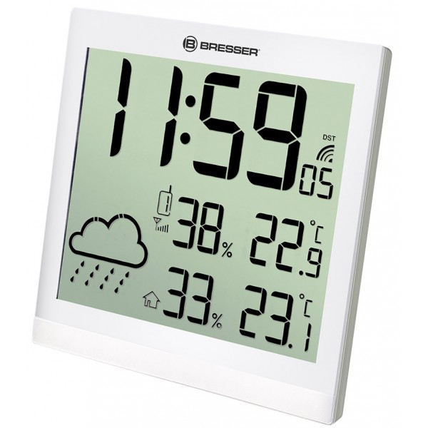 Bresser TemeoTrend JC LCD RC Weather Station (Wall clock), white
