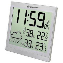 Mетеорологична станция Bresser TemeoTrend JC LCD RC, сребриста