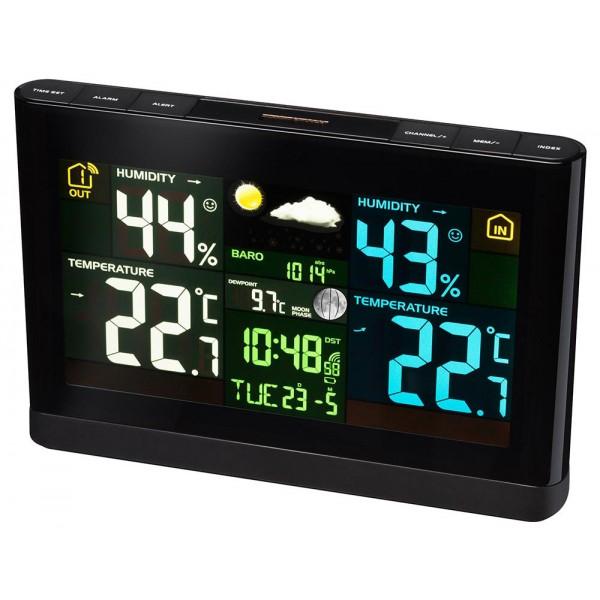 Метеорологична станция Bresser с цветен дисплей, черна