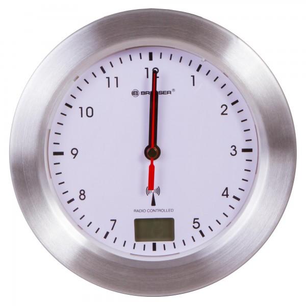 Непромокаем стенен часовник Bresser MyTime Bath, бял
