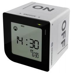 Настолен будилник Bresser FlipMe Alarm Clock, сребрист