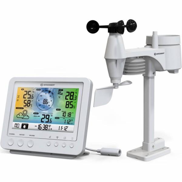 Метеорологична станция Bresser Wi-Fi 5-в-1 с цветен дисплей, бяла