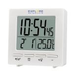 Цифров часовник RC Explore Scientific с показател на температурата на закрито, бял
