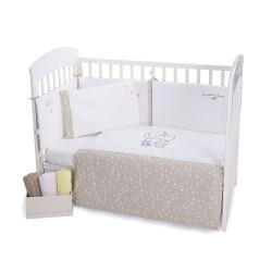 Бебешки спален комплект 6 части 60/120 с бродерия Little Dreamer Stars