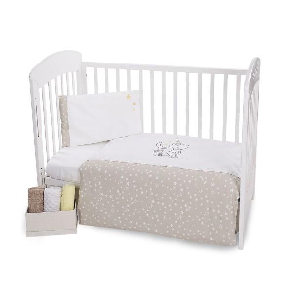 Бебешки спален комплект 5 части с бродерия Little Dreamer Stars