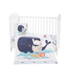 Kikkaboo Бебешки спален комплект 5 части Happy Sailor