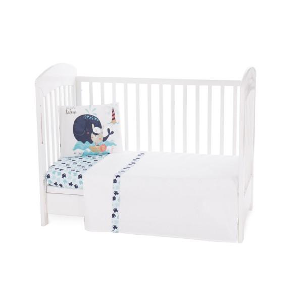 Бебешки спален комплект 3 части EU style 70/140 Happy Sailor