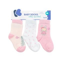 Бебешки памучни термо чорапи Day in Paris 6-12 месеца