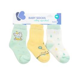 Бебешки памучни термо чорапи Elephant Time 2-3 години