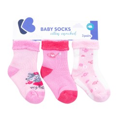 Бебешки памучни термо чорапи My Home 1-2 години