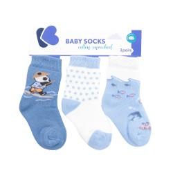 Бебешки памучни термо чорапи The Fish Panda 6-12 месеца