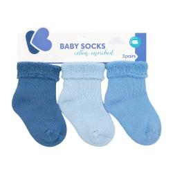 Бебешки памучни термо чорапи дълги BLUE 6-12 месеца