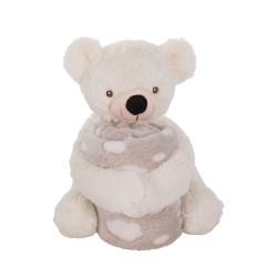 Kikkaboo Сет играчка с одеяло TeddyWhite