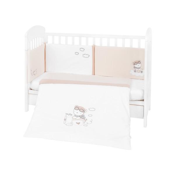 Kikkaboo Бебешки спален комплект 2 части EU style 60/120 с бродерия Dreamy Flight