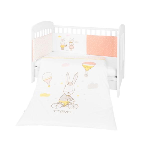 Kikkaboo Бебешки спален комплект 2 части EU style 60/120 Rabbits in Love