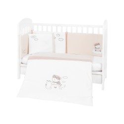 Бебешки спален комплект 6 части 60/120 с бродерия Dreamy Flight