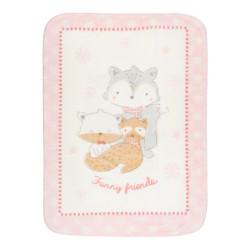 Супер меко бебешко одеяло Funny Friends 110/140 см розово