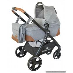 Комбинирана количка 2 в 1 Bali Zen Grey Melange с кош за новородено