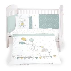 Бебешки спален комплект 6 части 60/120 Elephant Time
