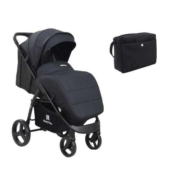 Kikkaboo Бебешка лятна количка EVA Black 2020