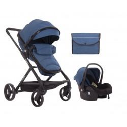 Комбинирана количка 3 в 1 Amulett Dark Blue