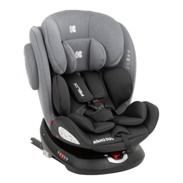 Стол за кола 0-1-2-3 (0-36 кг) Felix ISOFIX Dark Grey