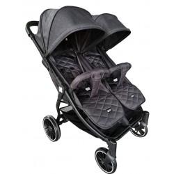 Бебешка количка за близнаци Happy 2 2020 Black