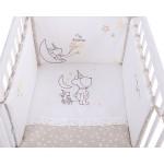 Kikkaboo Бебешки спален комплект 2 части EU style 60/120 бродерия Little Dreamer Stars
