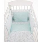 Бебешки спален комплект трико 5 части Green Cars 70/140