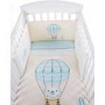 Kikkaboo Бебешки спален комплект 2 части EU style 60/120 Puppy on Balloon