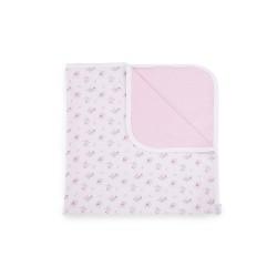 Лятно одеяло от трико 80/80см Pink Flowers