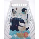 Бебешки спален комплект 6 части 60/120 Happy Sailor
