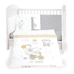 Бебешки спален комплект 6 части 60/120 Joyful Mice
